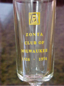 50th anniversary commemorative glass