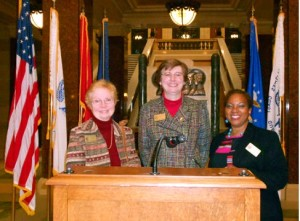Diane Pam & Cheryl at State Capitol