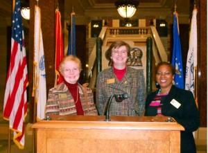Diane Pam & Cheryl at State Capitol