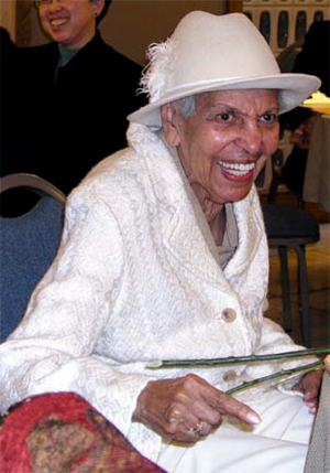 Ernestine O'Bee at her Zonta Meritorious Service Award Dinner October, 2006