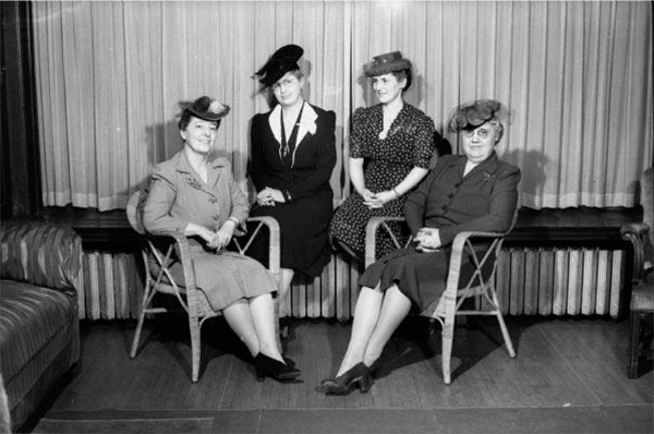 Lucille Clock, Edna Gillette, & Marvina Wilson Madison; and Meta Steinfort, Milwaukee 1944