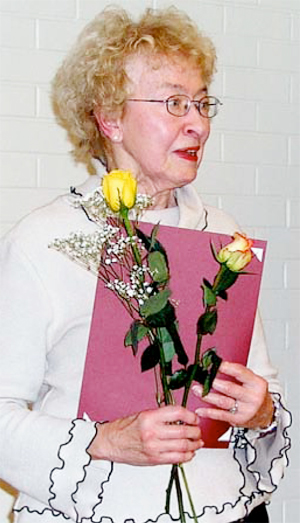 Norma receiving her 30 year Zonta Meritorious Service Award