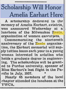 Zonta & AE Nov 09 1938